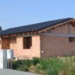 Hrubá stavba domu Oskar pred dokončením